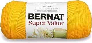 Bernat Super Value Yarn, 5 oz, Bright Yellow, 1 Ball