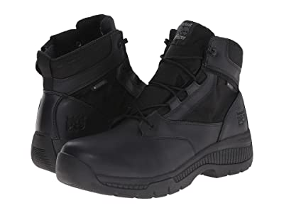 Timberland PRO 6 Valortm Duty Soft Toe Waterproof Side-Zip (Black) Men