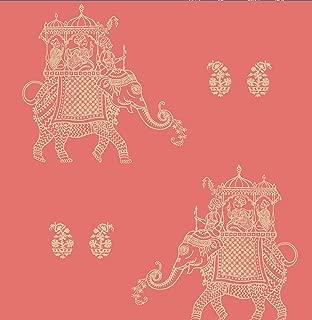 A-Street Prints 1014-001838 Ophelia Elephant Wallpaper, Coral