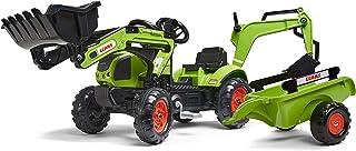 Falk – 2040N – Outdoor-Spielzeug – Baggerlader Claas Arion 410  Anhänger  Baggerschaufel