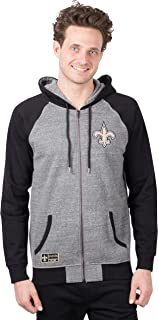 NFL Men's Full Zip Fleece Hoodie Letterman Varsity Jacket