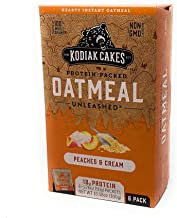 Kodiak Cakes Protein Packed Unleashed Oatmeal Peaches & Cream - 6 packets