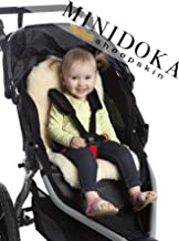 Genuine Lambskin Stroller Liner, Seat Cover, Naturally Breathable, Year Round Comfort, Universal Fit, by Minidoka Sheepskin