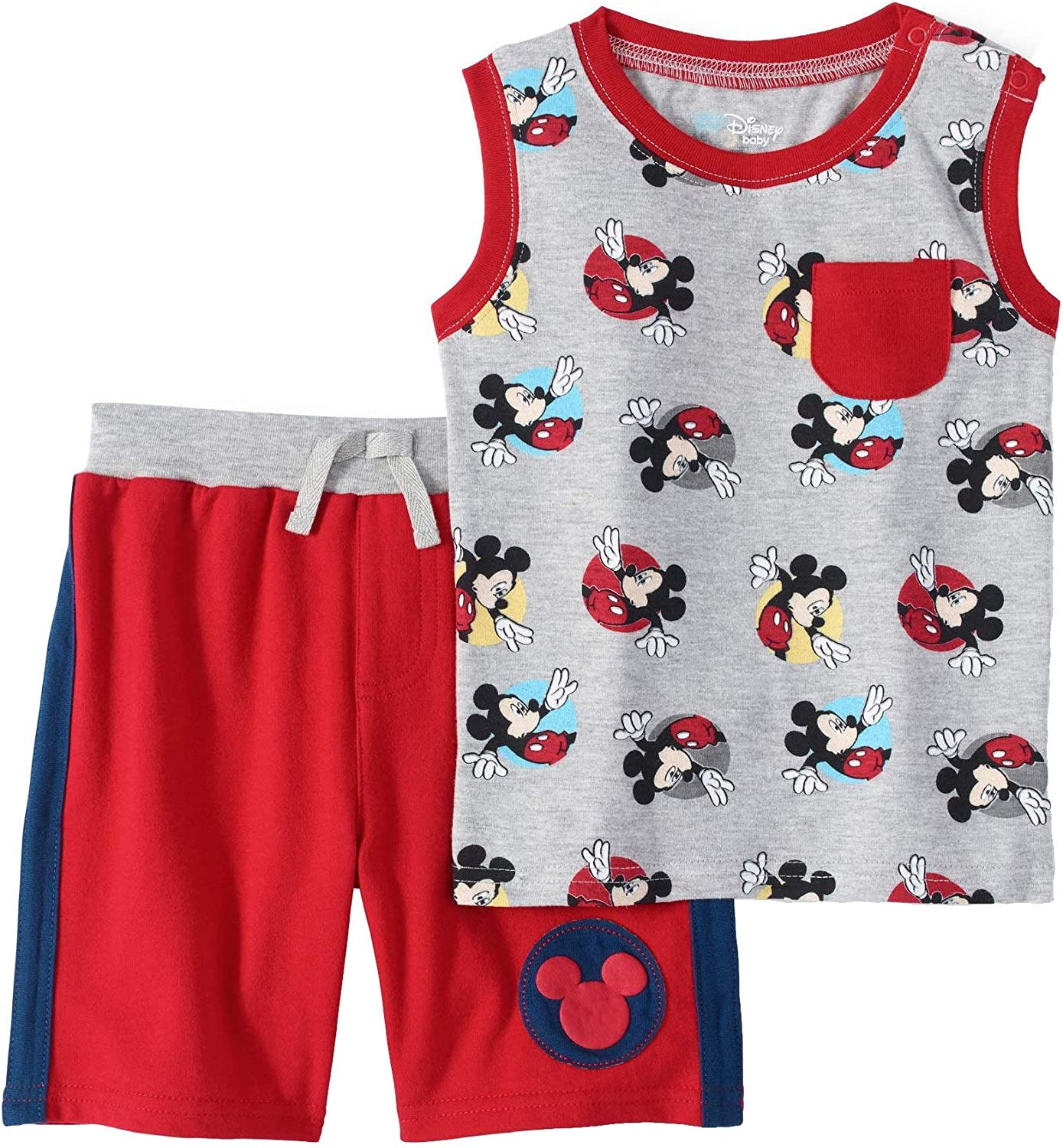 Disney Mickey Mouse Baby Boys Tank Top and Shorts Outfit Set