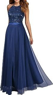Viwenni Women's Vintage Lace Evening Party Wedding Long Dress