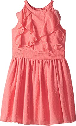 Textured Chiffon Ruffle Dress (Big Kids)