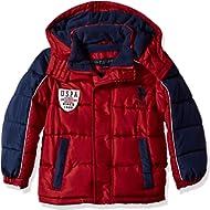 U.S. Polo Assn. Boys' Bubble Vestee Jacket with Fleece Hood