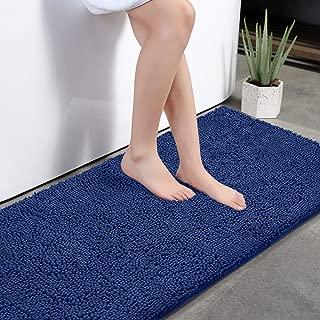 KMAT Bath Mat Rug Nonslip Plush Chenille Bathroom mat Quick Absorbent 28