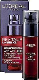 L'Oréal Paris Serum, Revitalift Laser X3, Anti-Aging Gesichtspflege mit 3-fach..