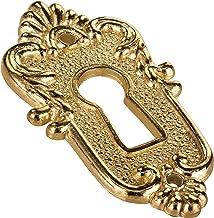 Gedotec Sleutelbord messing | sleutelrozet met Euro-slot | LINZ | slotrozetten - afdekking voor sloten | 5 stuks - sleutel...