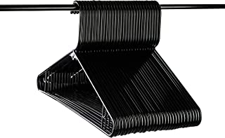 Neaties American Made Black Plastic Hangers with Bar Hooks, Plastic Clothes Hangers Ideal for Everyday Use, Clothing Standard Hangers, 30pk