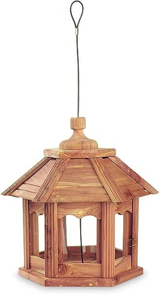 Pennington 100509194 Cedar Gazebo Bird Feeder 3 LB Capacity