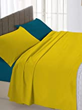 Italian Bed Bedding Linen Ochre/Blue Double 250x 300cm