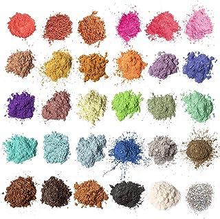 Mica-poeder 30 kleuren (5 g / 0,18 oz, totaal 150 g / 5,3 oz), MENNYO natuurlijke pigmenten Glitter epoxyharsverf voor zee...