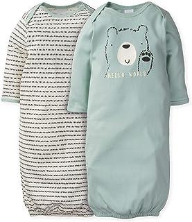 Gerber Baby Boys' 2-Pack Gown, Blue Hello Bear, 0-6 Months