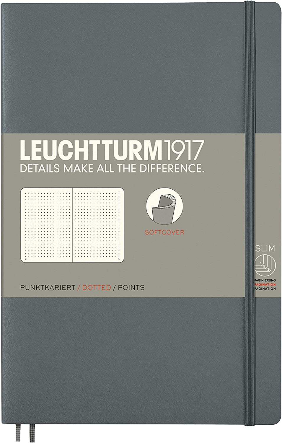 LEUCHTTURM1917 - Pocket A6 Anthracite 2021 autumn and Super Special SALE held winter new Notebook Softcover Dotted