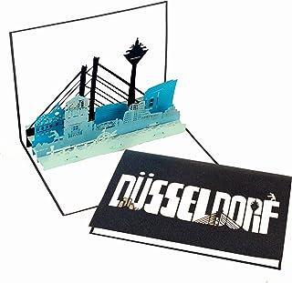 "Grußkarte ""Düsseldorf - Panorama"" - 3D Pop Up Karte D�"