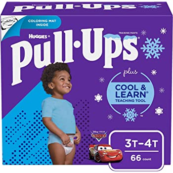 Pull-Ups Cool & Learn Boys' Training Pants, 3T-4T, 66 Ct (Packaging May Vary)