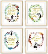 Alice in Wonderland Imagination Quotes Art Prints | Set of Four Photos 8x10 Unframed | Great Gift for Living Room Bedroom Office Decor