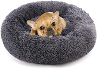 NOYAL Donut Dog Cat Bed, Soft Plush Pet Cushion,...