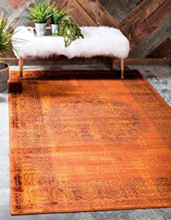 Unique Loom Imperial Collection Modern Traditional Vintage Distressed Terracotta Area Rug (4' 0 x 6' 0)