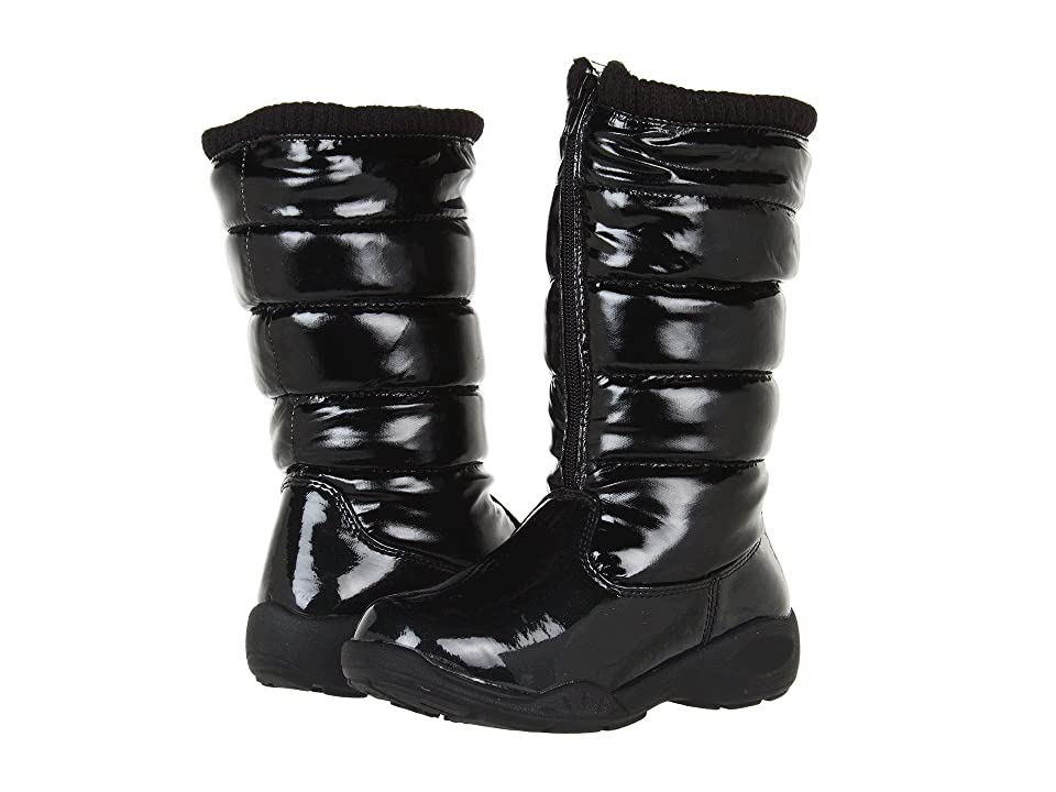 Tundra Boots Kids Puffy (Little Kid/Big Kid) (Black) Girls Shoes