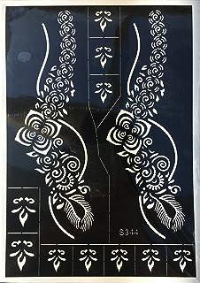 Ivana's Heena Mehandi Tatto Stencil Set for   Hand   Body   Fingure   Face   Heena Art Temporary Tatto for Kids, Girls & W...