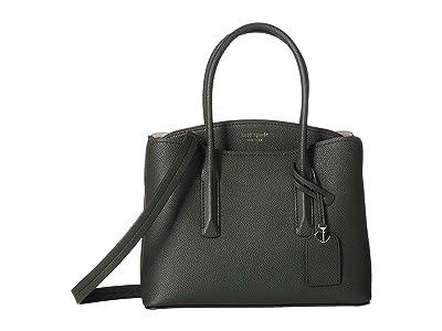 Kate Spade New York Margaux Medium Satchel (Deep Evergreen) Satchel Handbags