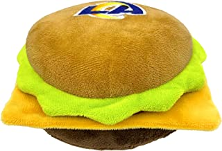 NFL Los Angeles RAMS Cheese Burger Plush Dog & CAT Squeak Toy - Cutest Stadium HAMBERGER Snack Plush Toy for Dogs & Cats w...