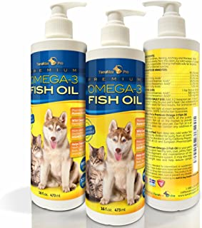 TerraMax Pro Premium Liquid Omega-3 Fish Oil for Dogs and Cats - All-Natural Human Grade Food Supplement - Wild Caught from The Nordic Waters of Iceland - Higher EPA, DHA Than Alaskan Salmon Oil