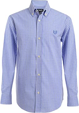 Long Sleeve Woven Shirt With Stretch