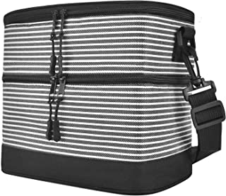 Premium Insulated Lunch Bag,Leakproof Thermal Reusable Lunch Box for Adult & Kids-Soft Medium Lunch Cooler bag for Work ,School (Black)