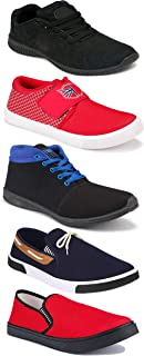 WORLD WEAR FOOTWEAR Sports Running Shoes/Casual/Sneakers/Loafers Shoes for Men Multicolor (Combo-(5)-1219-1221-1140-417-698)