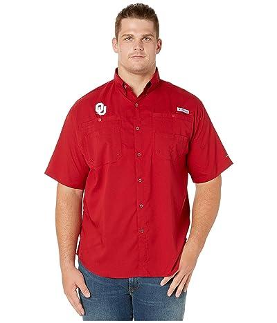 Columbia College Big Tall Oklahoma Sooners Collegiate Tamiami II Short Sleeve Shirt (Red Velvet) Men