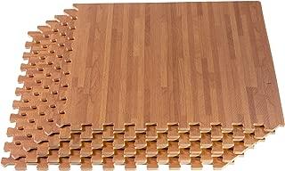 FOREST FLOOR 24 x 24 in x 5/8 in Thick Printed Foam Tiles,  Premium Wood Grain Interlocking Foam Floor Mats,  Anti-Fatigue Flooring,  80 Sq Ft