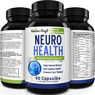 Mind Enhancement Supplement Natural Nootropic Pills for Men and Women Boost Focus Clarity Improve Memory Reduce Forgetfuln...