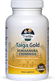 TAIGASEA Schisandra Chinensis Supplement, Wild Siberian Herbal Extract Blend for Mental Focus, Sharp Brain Functions, Enha...