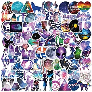 Galaxy Style Stickers 100 pcs/Pack Stickers Variety Vinyl Car Sticker Motorcycle Bicycle Luggage Decal Graffiti Patches Skateboard Stickers for Laptop Stickers for Kid and Adult