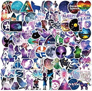 Vinyl Stickers for Hydro Flask[100 pcs],Galaxy Stickers for Kids Car Bicycle Luggage Decal Graffiti Patches Skateboard Waterproof Stickers for Water Bottle - No-Duplicate Sticker Pack