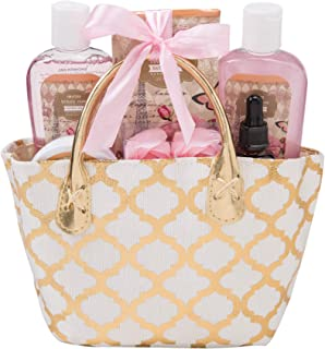Draizee Spa Luxurious Home Relaxation Lovely Fragrance Gift Bag for Woman (British Rose, 6 Pieces) - #1 Best Christmas Gift for Women