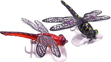 CATCHSIF 2PK Dragonfly Insect Popper Lures Topwater Fishing Crankbaits