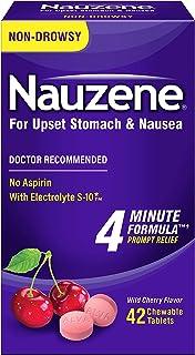 Nauzene Upset Stomach & Nausea Chewable Tablets Wild Cherry Flavor - 42 ct