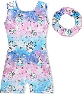 Sylfairy Gymnastics Wrap Skirted Leotards for Girls Kids Sparkle Rainbow Unicorn Gymnastic Skirt, Dance Ballet Dress