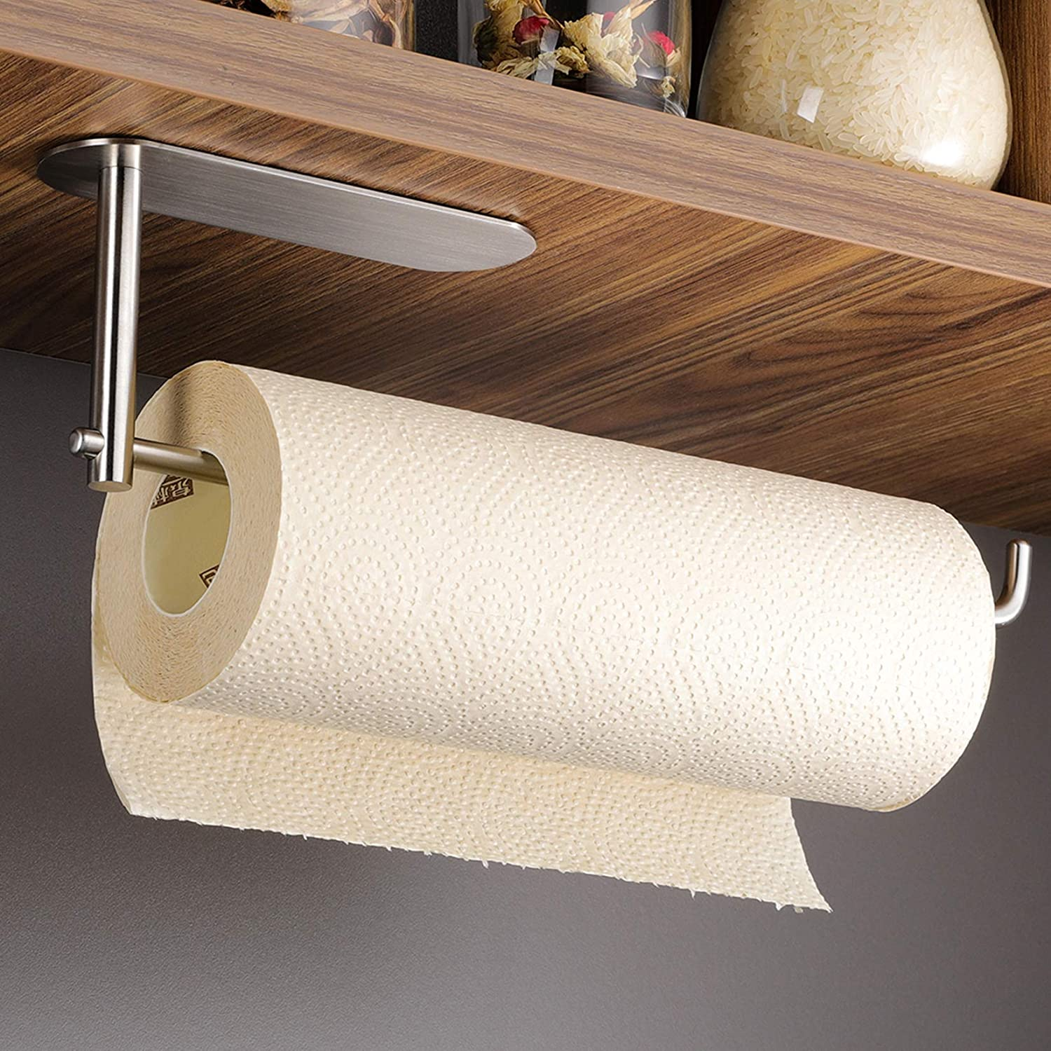 DELITON Paper Towel Holder Cabinet - Free shipping / New Max 71% OFF Adhesive Under