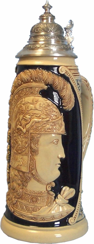 King German Special Campaign Beer Stein Minerva of War Giantstein Deluxe Goddess replic