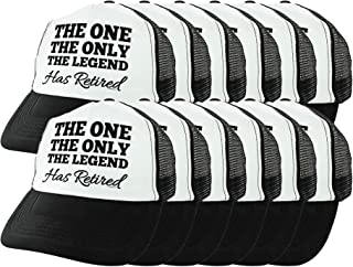Retirement Gag Gifts The One The Only The Legend Has Retired Gift Trucker Hat