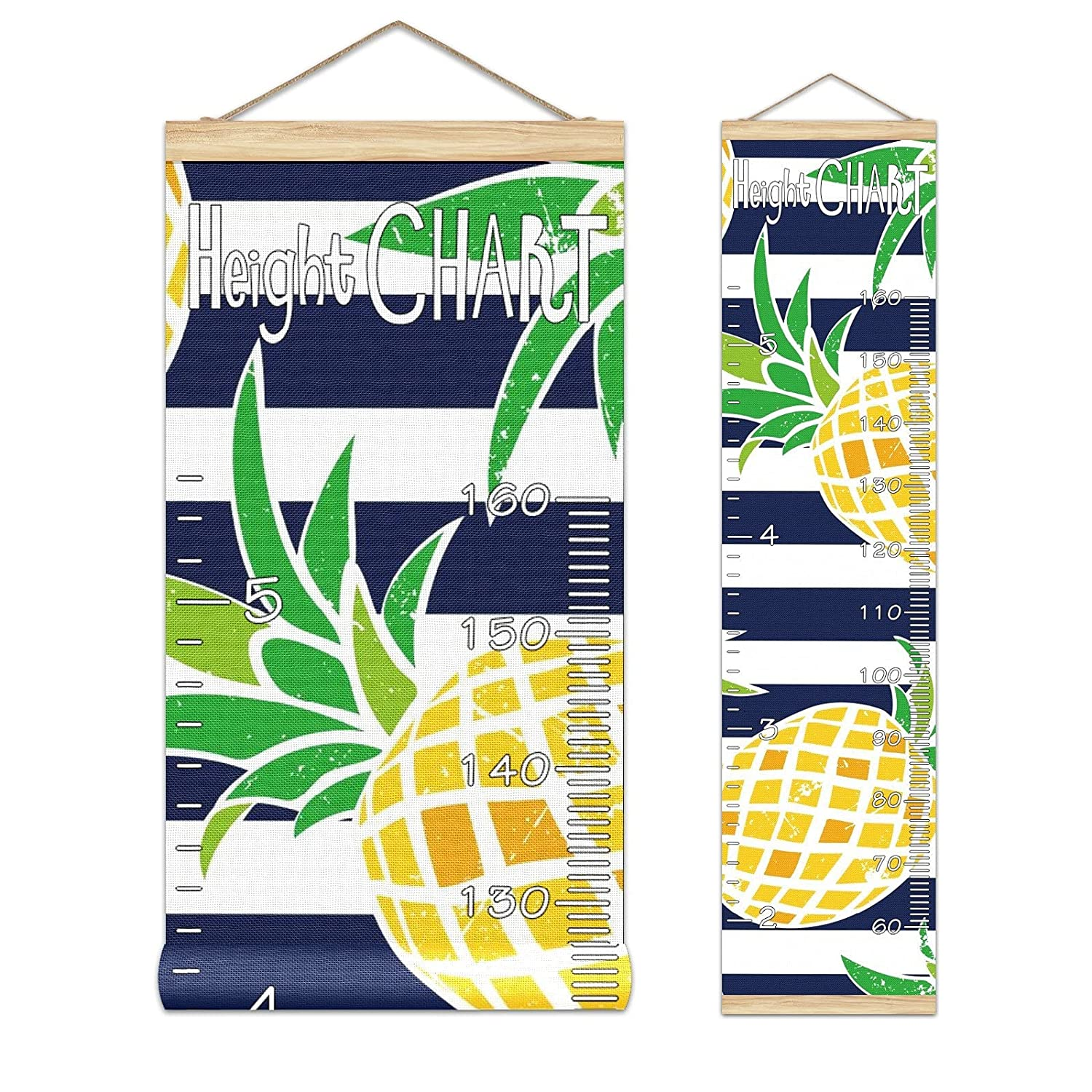 Kids Growth Daily bargain shopping sale Chart Hanging Ruler Roll-up W Pineapple Height