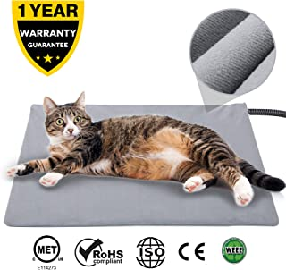 Pet Heating Pad for Cats Dogs,17.7''x15.7''Soft Indoor Pet Electric Blanket with Temperature Control Waterproof,Animal Bed Warmer House Heater Heated Floor Mats,Whelping Supplies for Pregnant Cat,Dog