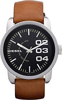 Diesel Double Down 46 Men's Black Dial Leather Analog Watch - DZ1513