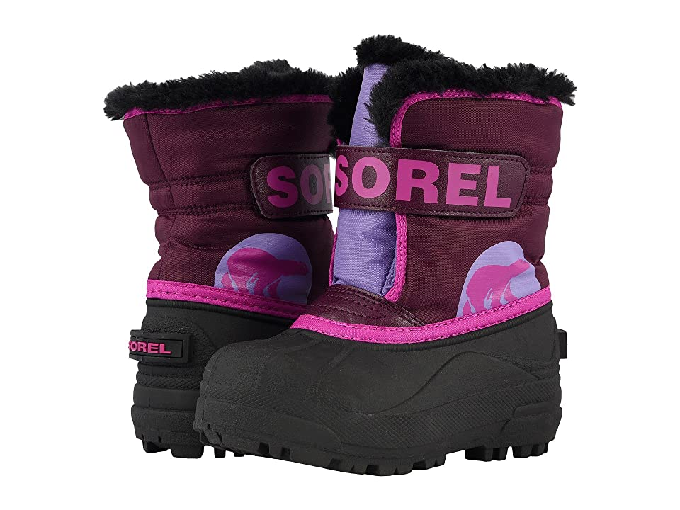 SOREL Kids Snow Commander (Toddler/Little Kid) (Purple Dahlia/Paisley Purple) Boys Shoes